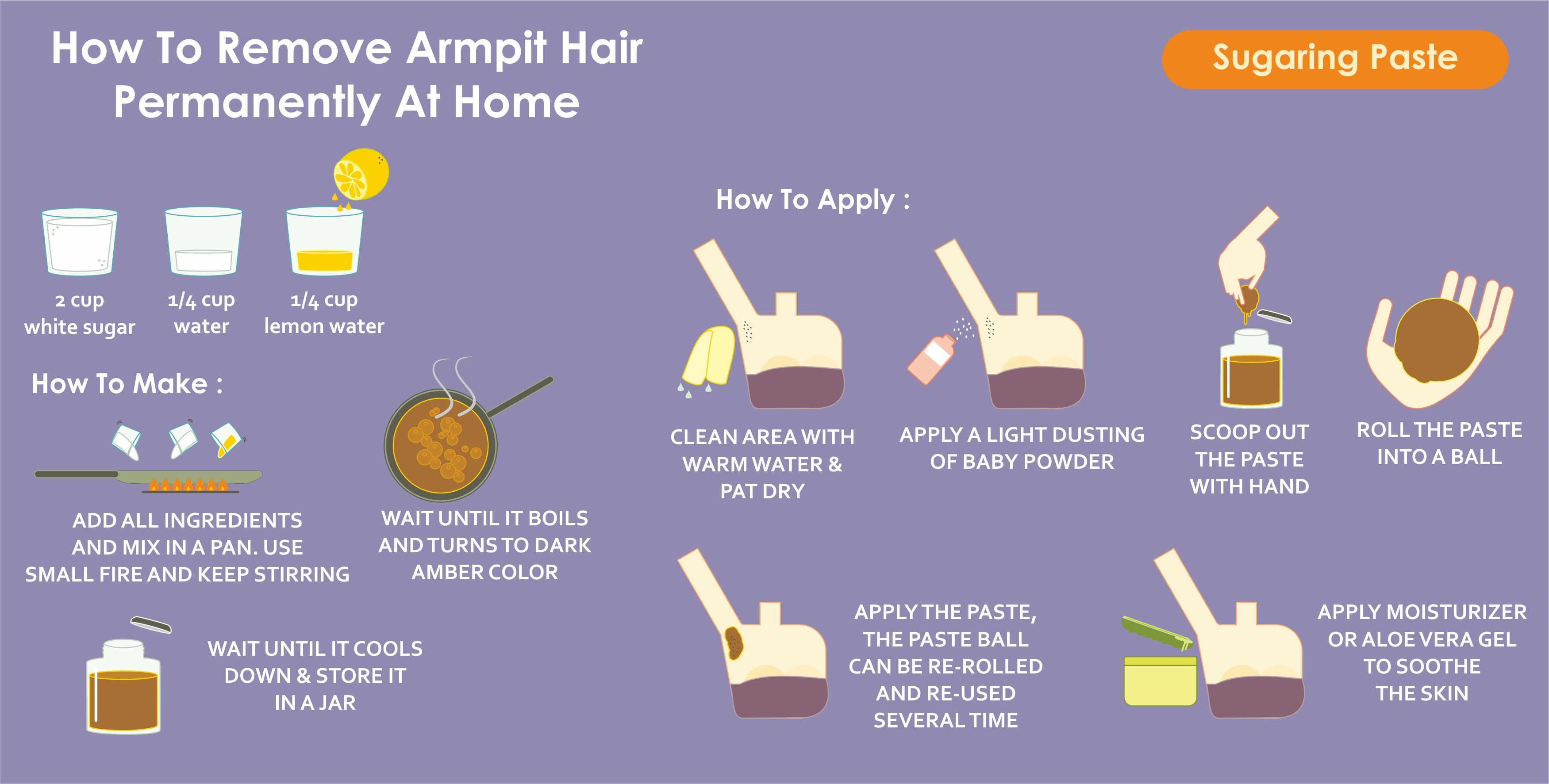 How to remove armpit    hair    permanently at home  Wound Care